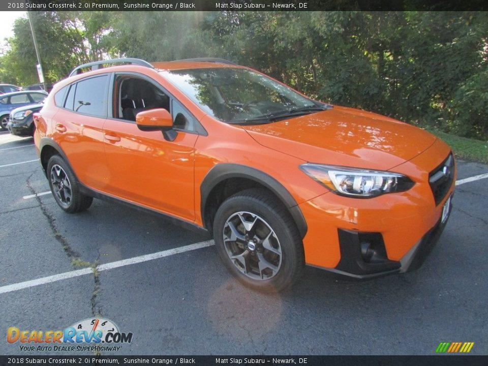2018 Subaru Crosstrek 2.0i Premium Sunshine Orange / Black Photo #4
