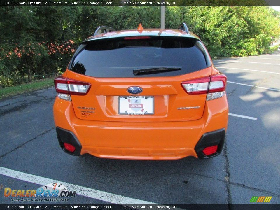 2018 Subaru Crosstrek 2.0i Premium Sunshine Orange / Black Photo #7