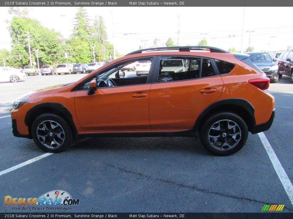 2018 Subaru Crosstrek 2.0i Premium Sunshine Orange / Black Photo #9