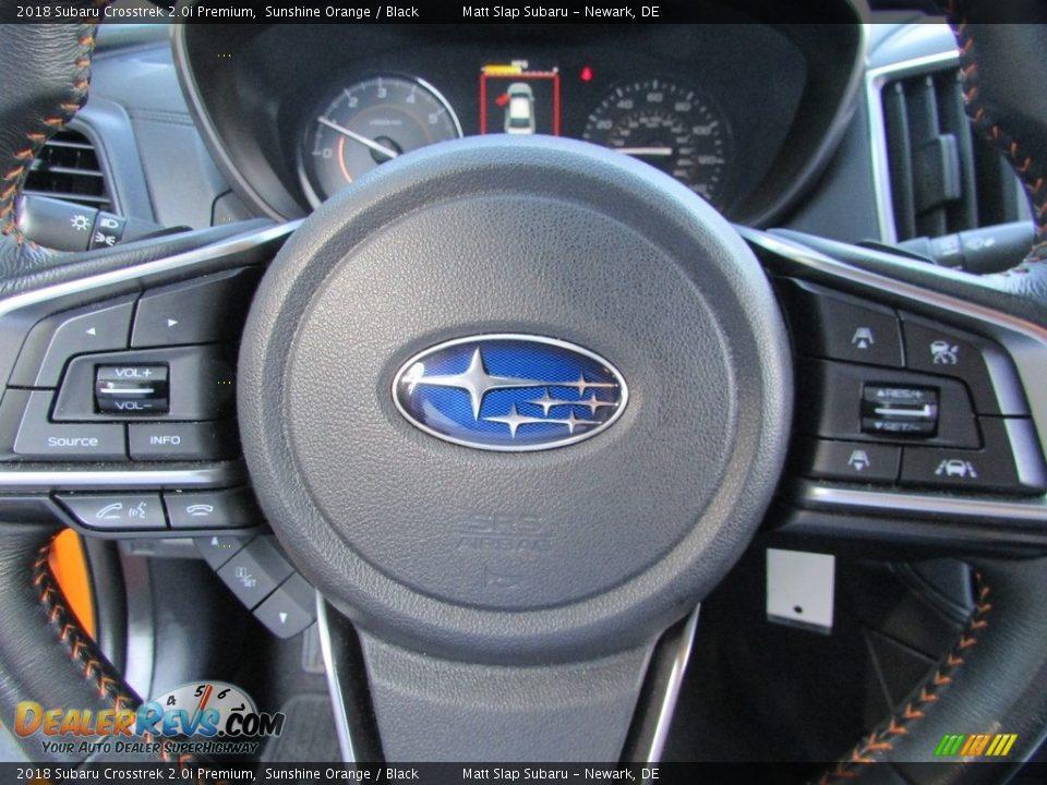 2018 Subaru Crosstrek 2.0i Premium Sunshine Orange / Black Photo #11