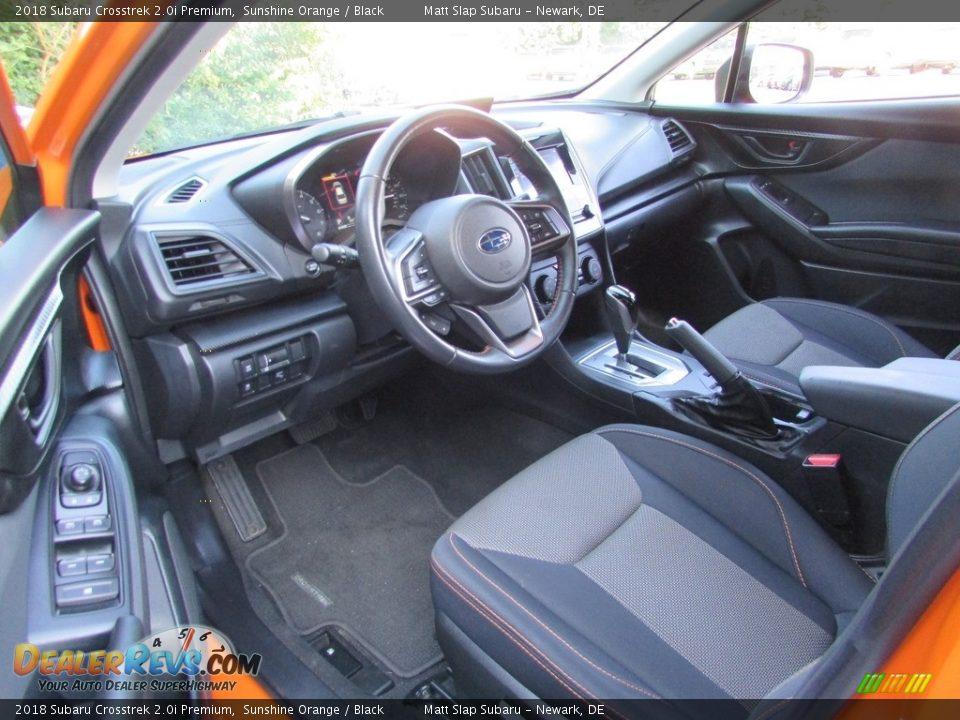 2018 Subaru Crosstrek 2.0i Premium Sunshine Orange / Black Photo #12