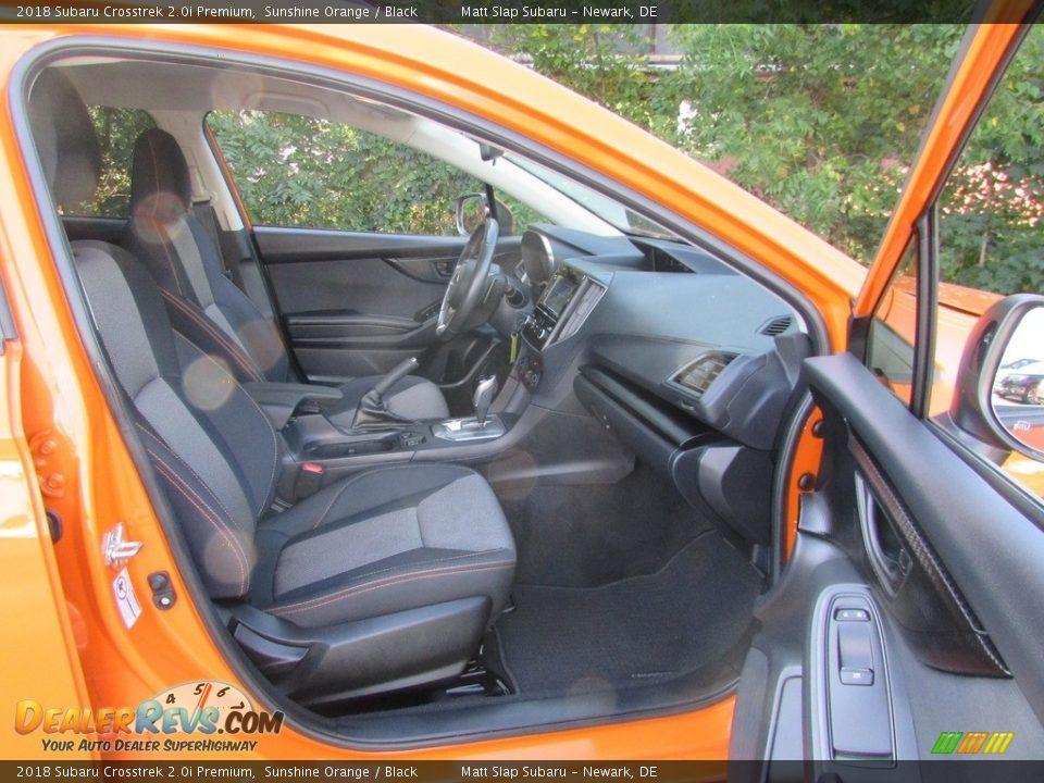 2018 Subaru Crosstrek 2.0i Premium Sunshine Orange / Black Photo #18
