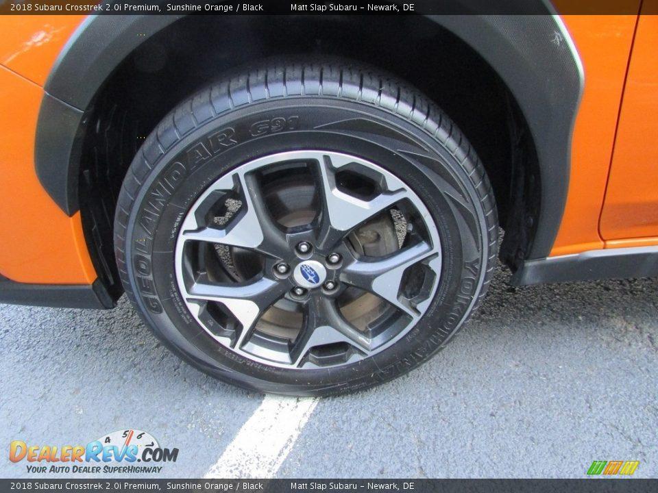 2018 Subaru Crosstrek 2.0i Premium Sunshine Orange / Black Photo #22