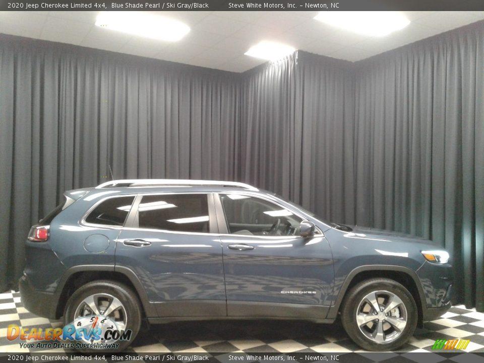 2020 Jeep Cherokee Limited 4x4 Blue Shade Pearl / Ski Gray/Black Photo #5