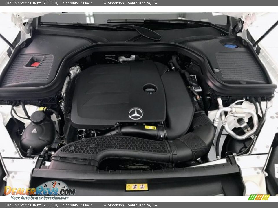 2020 Mercedes-Benz GLC 300 Polar White / Black Photo #8
