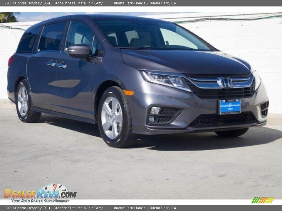 2020 Honda Odyssey EX-L Modern Steel Metallic / Gray Photo #1