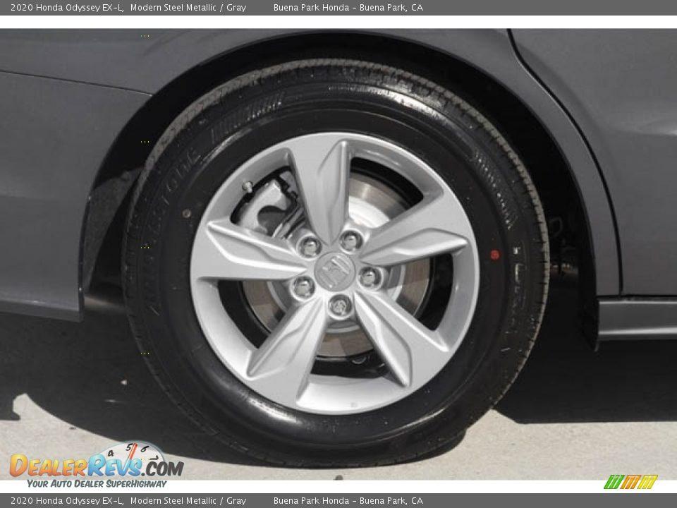 2020 Honda Odyssey EX-L Modern Steel Metallic / Gray Photo #12