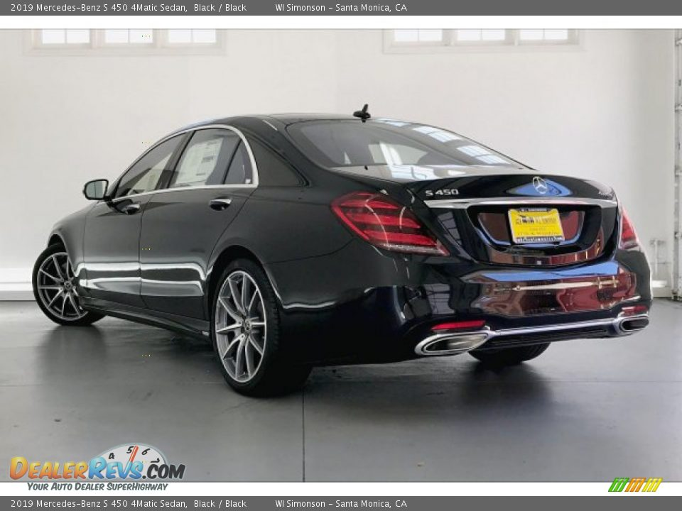 2019 Mercedes-Benz S 450 4Matic Sedan Black / Black Photo #2