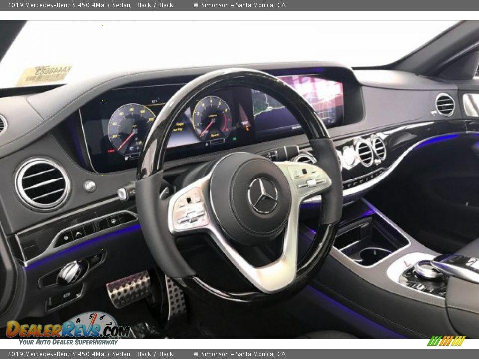 2019 Mercedes-Benz S 450 4Matic Sedan Black / Black Photo #4