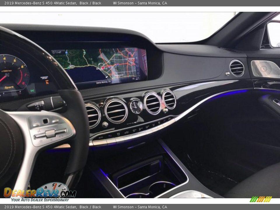 2019 Mercedes-Benz S 450 4Matic Sedan Black / Black Photo #6