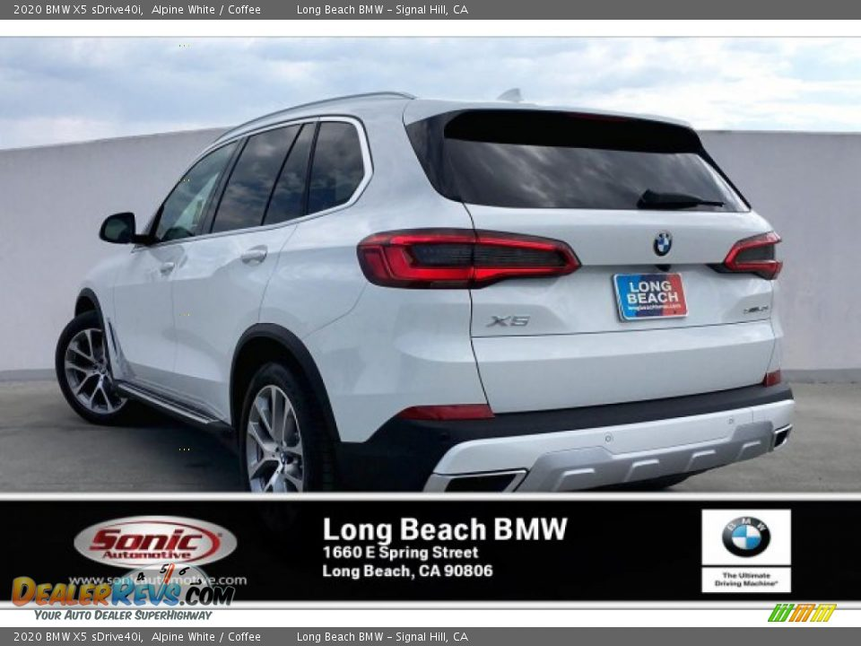 2020 BMW X5 sDrive40i Alpine White / Coffee Photo #2