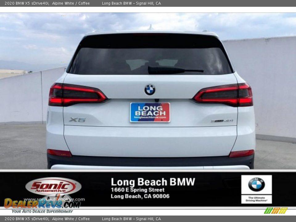 2020 BMW X5 sDrive40i Alpine White / Coffee Photo #3