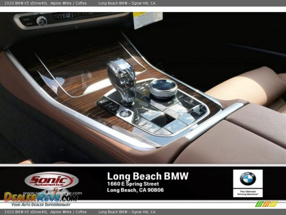 2020 BMW X5 sDrive40i Alpine White / Coffee Photo #6
