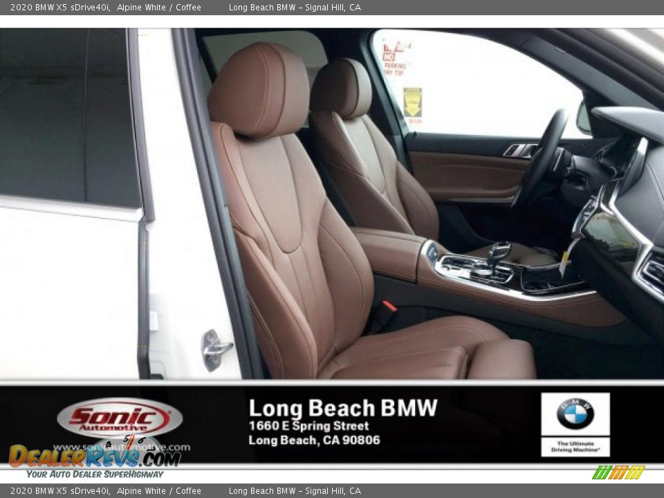 2020 BMW X5 sDrive40i Alpine White / Coffee Photo #7