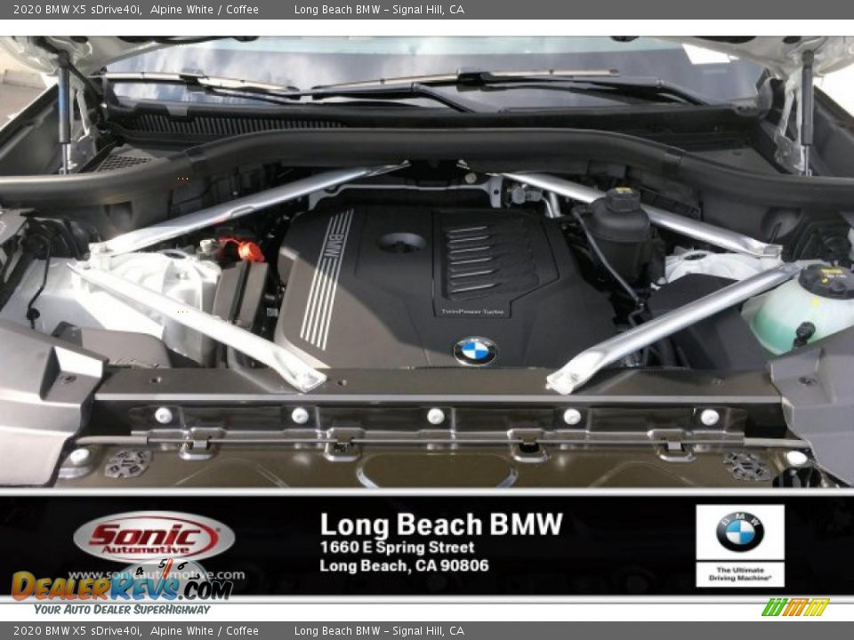 2020 BMW X5 sDrive40i Alpine White / Coffee Photo #8