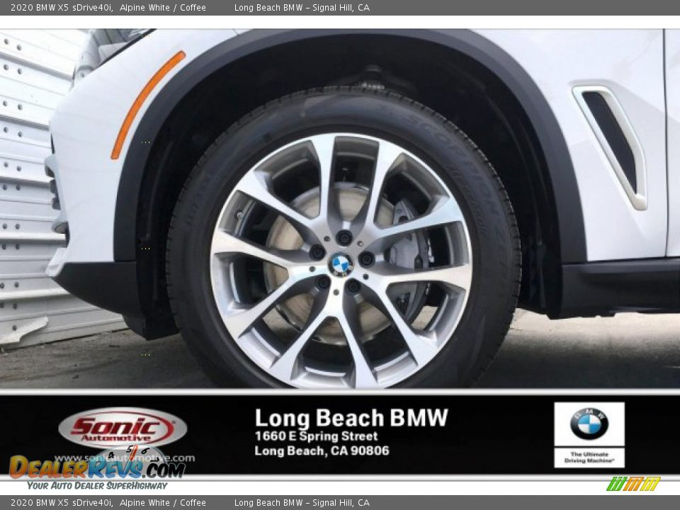 2020 BMW X5 sDrive40i Alpine White / Coffee Photo #9