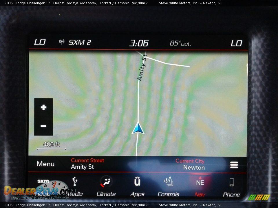Navigation of 2019 Dodge Challenger SRT Hellcat Redeye Widebody Photo #22