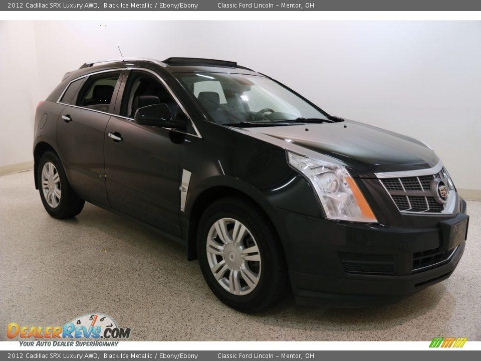 2012 Cadillac SRX Luxury AWD Black Ice Metallic / Ebony/Ebony Photo #1