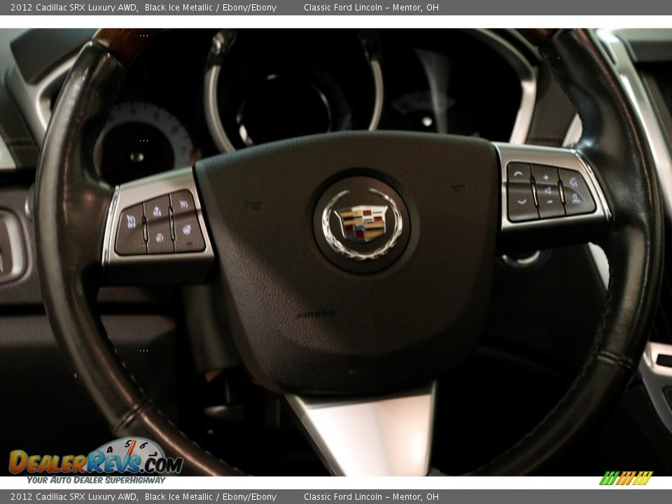 2012 Cadillac SRX Luxury AWD Black Ice Metallic / Ebony/Ebony Photo #7