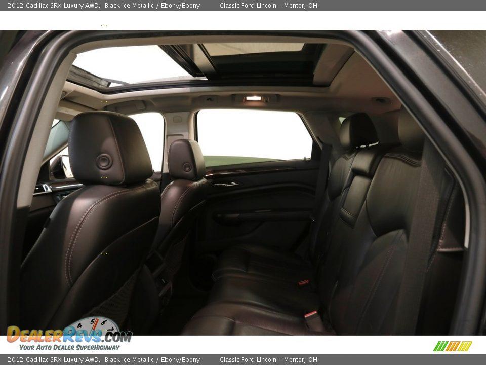 2012 Cadillac SRX Luxury AWD Black Ice Metallic / Ebony/Ebony Photo #15