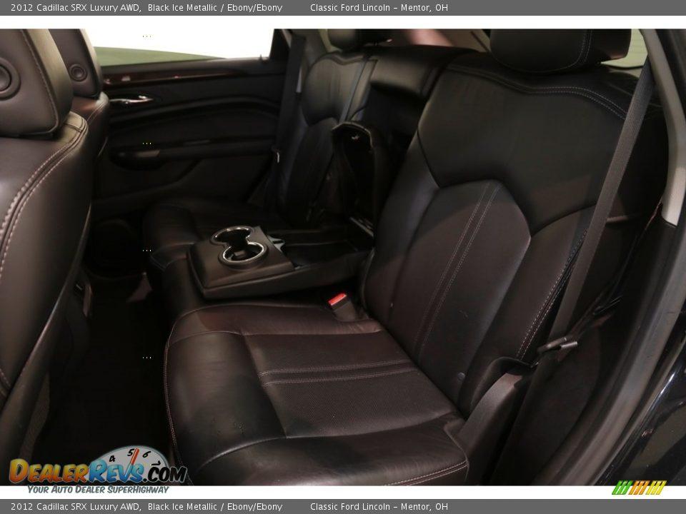 2012 Cadillac SRX Luxury AWD Black Ice Metallic / Ebony/Ebony Photo #17