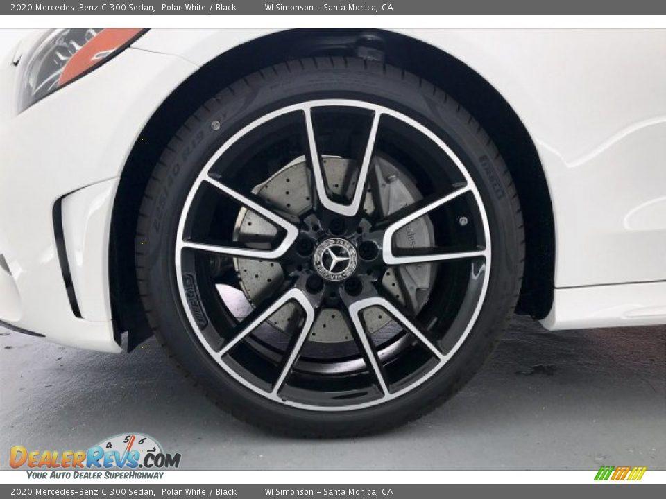 2020 Mercedes-Benz C 300 Sedan Polar White / Black Photo #9