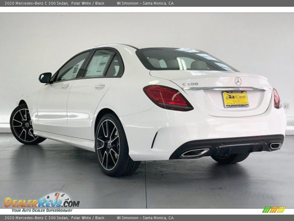 2020 Mercedes-Benz C 300 Sedan Polar White / Black Photo #2