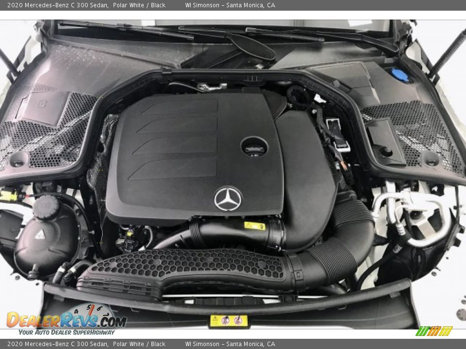 2020 Mercedes-Benz C 300 Sedan Polar White / Black Photo #8