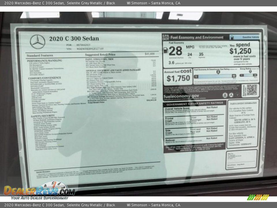 2020 Mercedes-Benz C 300 Sedan Window Sticker Photo #10