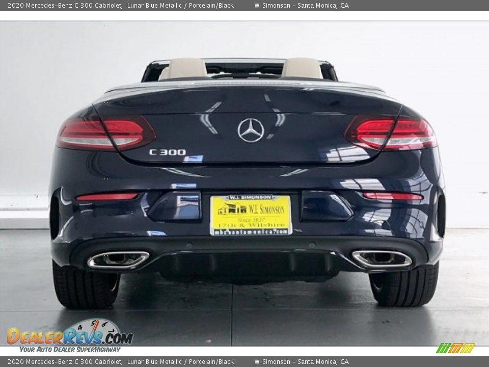 2020 Mercedes-Benz C 300 Cabriolet Lunar Blue Metallic / Porcelain/Black Photo #3