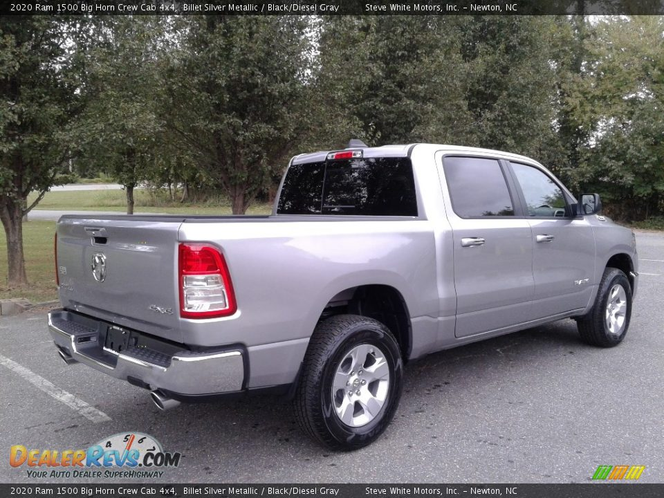 2020 Ram 1500 Big Horn Crew Cab 4x4 Billet Silver Metallic / Black/Diesel Gray Photo #6