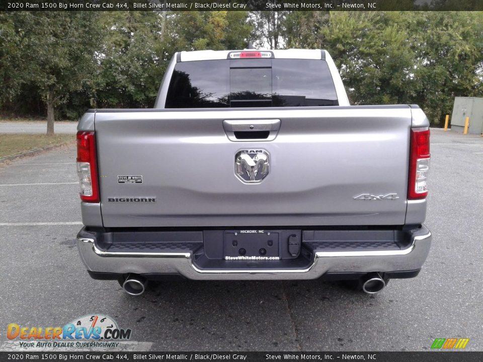 2020 Ram 1500 Big Horn Crew Cab 4x4 Billet Silver Metallic / Black/Diesel Gray Photo #7