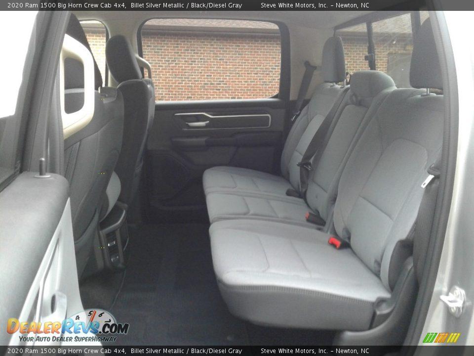 2020 Ram 1500 Big Horn Crew Cab 4x4 Billet Silver Metallic / Black/Diesel Gray Photo #11