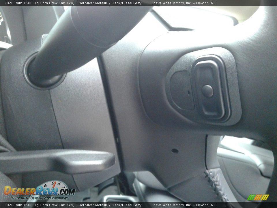2020 Ram 1500 Big Horn Crew Cab 4x4 Billet Silver Metallic / Black/Diesel Gray Photo #16