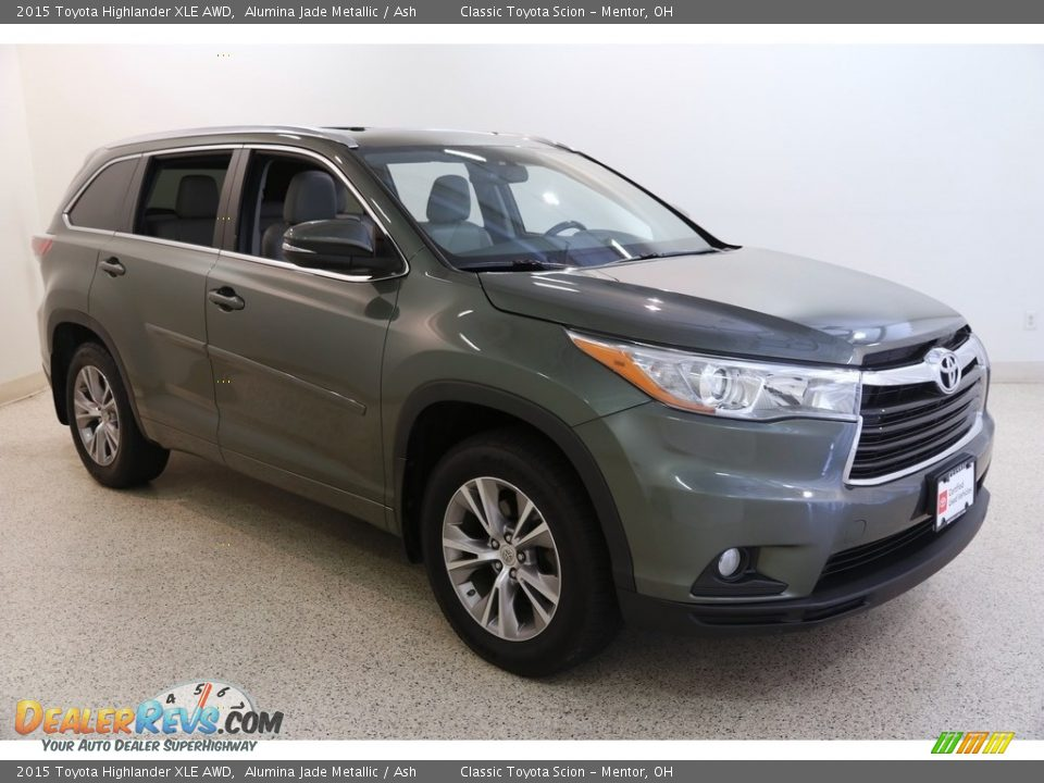 2015 Toyota Highlander XLE AWD Alumina Jade Metallic / Ash Photo #1