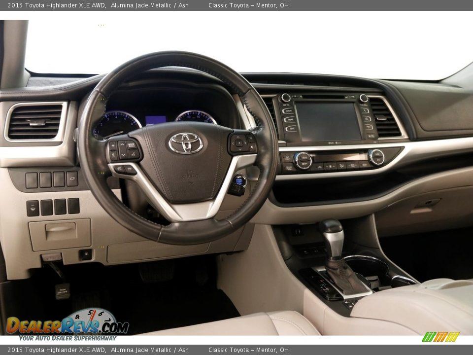 2015 Toyota Highlander XLE AWD Alumina Jade Metallic / Ash Photo #6
