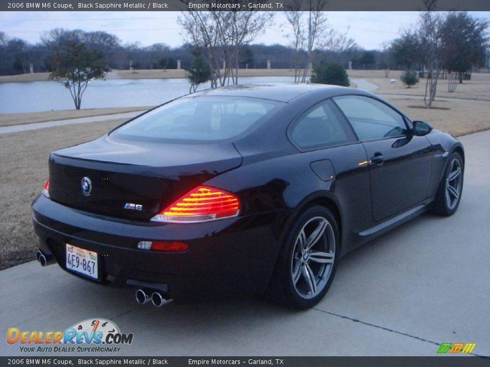 2006 Bmw M6 Coupe Black Sapphire Metallic Black Photo 6