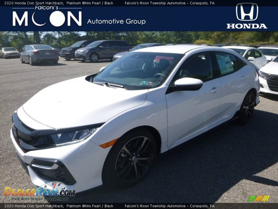2020 Honda Civic Sport Hatchback Platinum White Pearl / Black Photo #1