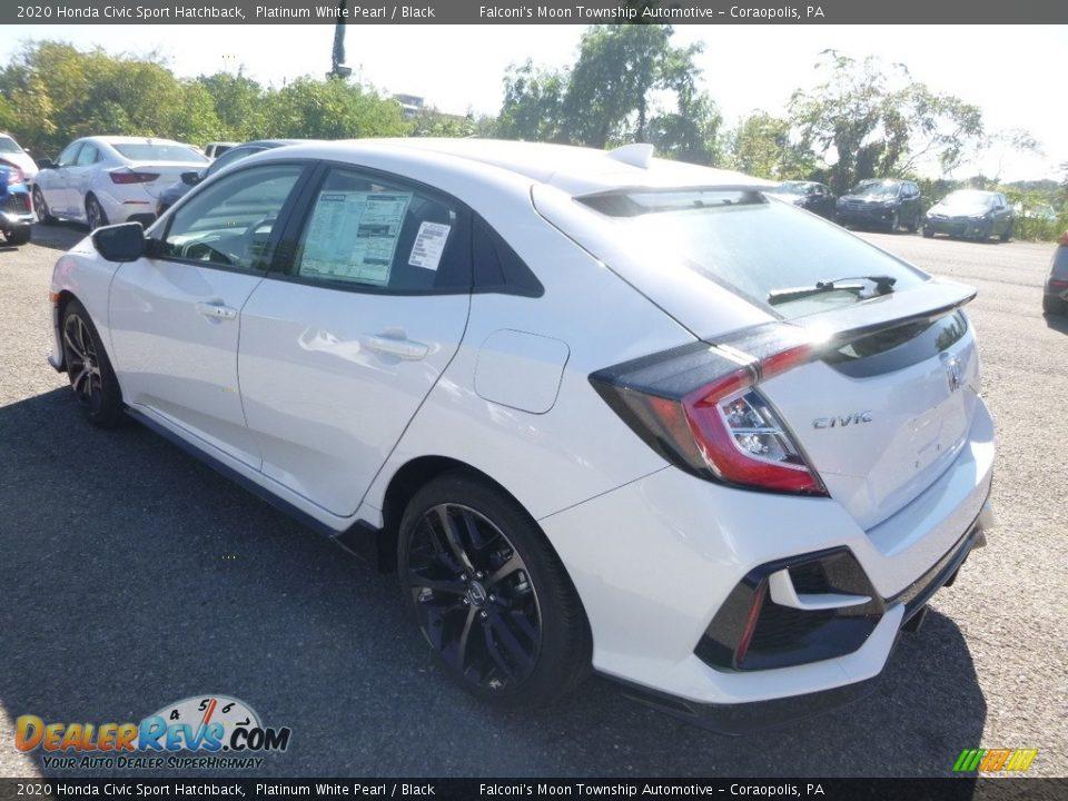 2020 Honda Civic Sport Hatchback Platinum White Pearl / Black Photo #3