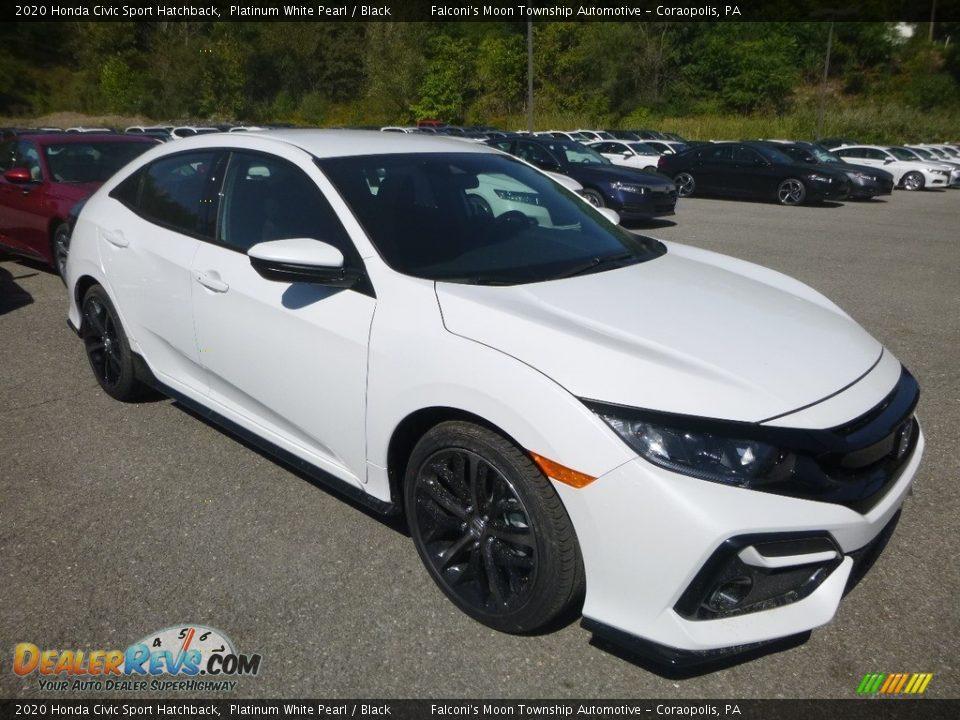2020 Honda Civic Sport Hatchback Platinum White Pearl / Black Photo #6