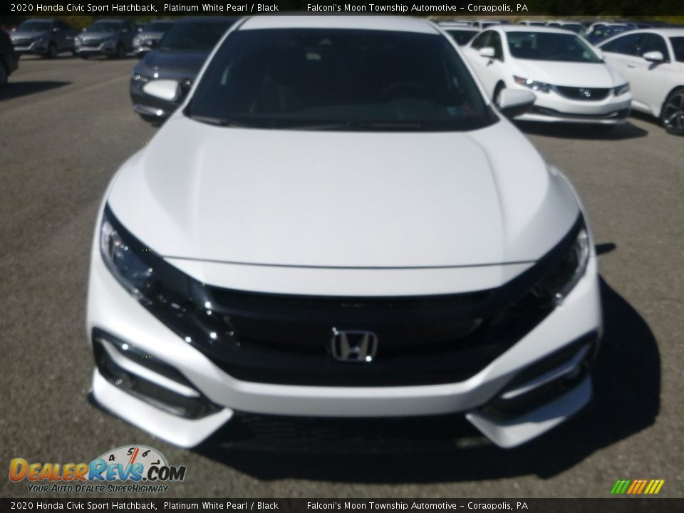 2020 Honda Civic Sport Hatchback Platinum White Pearl / Black Photo #7