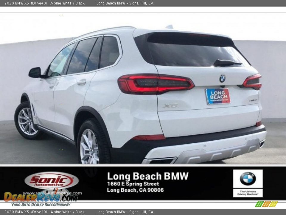 2020 BMW X5 sDrive40i Alpine White / Black Photo #2