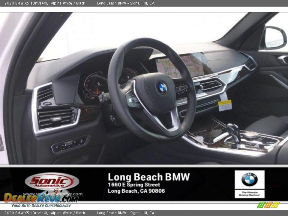 2020 BMW X5 sDrive40i Alpine White / Black Photo #4