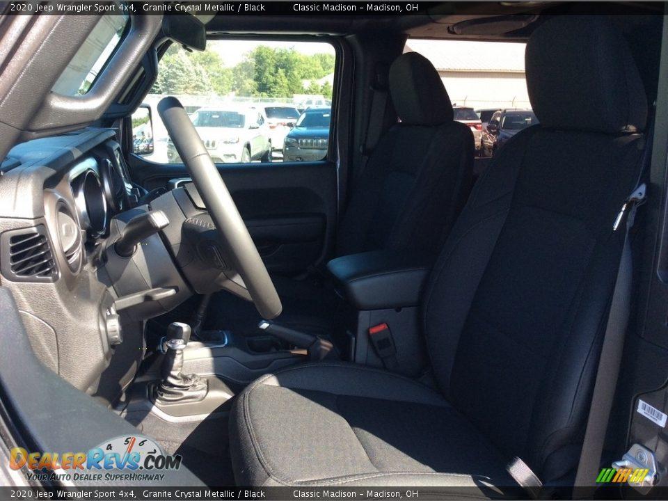 2020 Jeep Wrangler Sport 4x4 Granite Crystal Metallic / Black Photo #2
