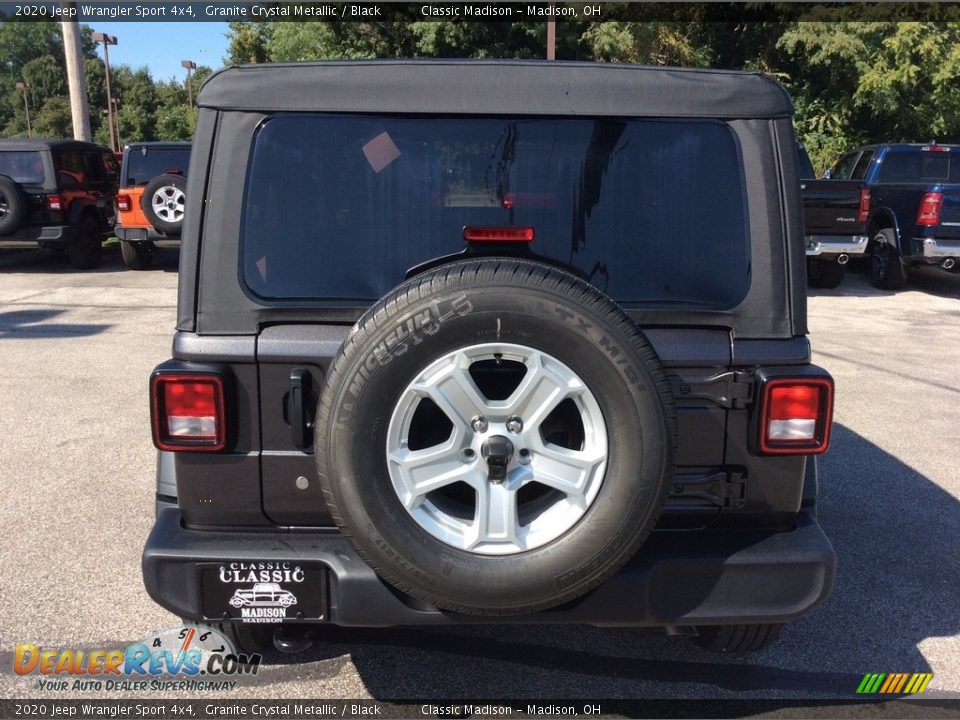 2020 Jeep Wrangler Sport 4x4 Granite Crystal Metallic / Black Photo #8