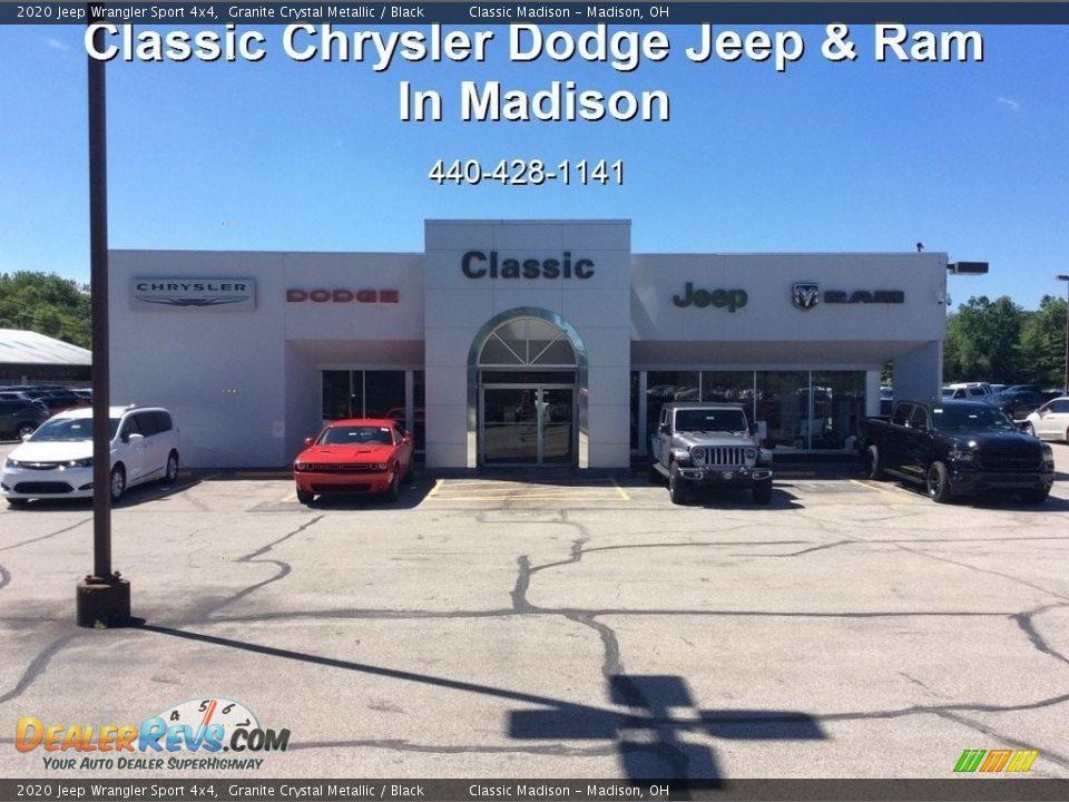 2020 Jeep Wrangler Sport 4x4 Granite Crystal Metallic / Black Photo #16