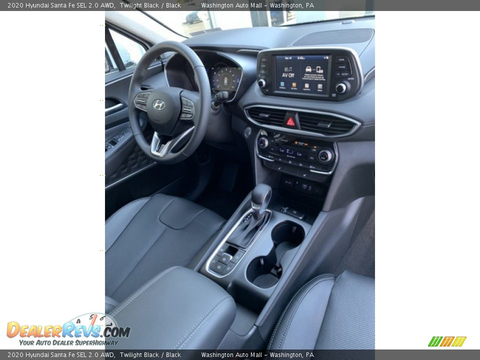 2020 Hyundai Santa Fe SEL 2.0 AWD Twilight Black / Black Photo #30