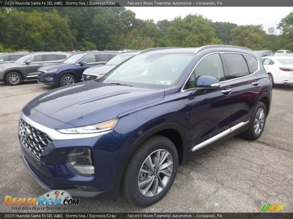 2020 Hyundai Santa Fe SEL AWD Stormy Sea / Espresso/Gray Photo #5