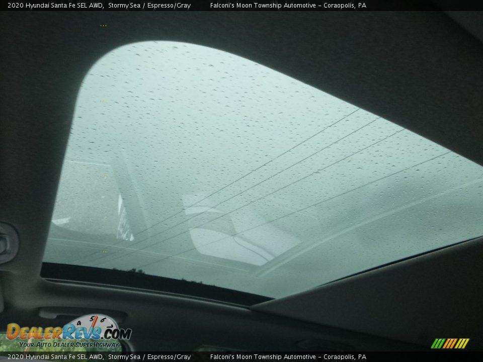 2020 Hyundai Santa Fe SEL AWD Stormy Sea / Espresso/Gray Photo #15