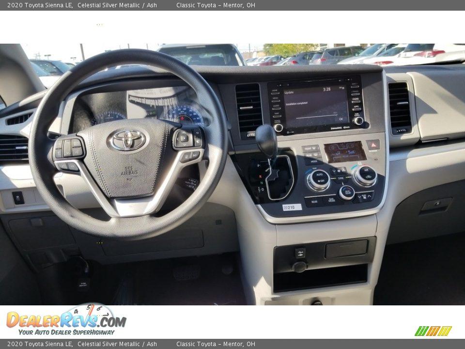 2020 Toyota Sienna LE Celestial Silver Metallic / Ash Photo #4